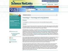 Toxicology and Living Systems Lesson Plan