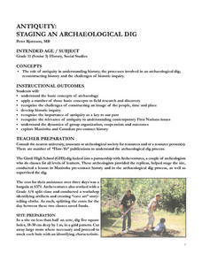 Antiquity: Staging an Archaeological Dig Lesson Plan