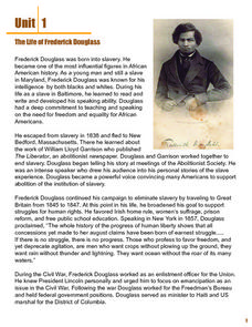 The Life of Frederick Douglass Lesson Plan