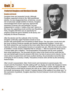 Frederick Douglas and Abraham Lincoln Lesson Plan