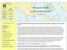 "Monsoon Winds to the ""Land of Gold"" Lesson Plan"