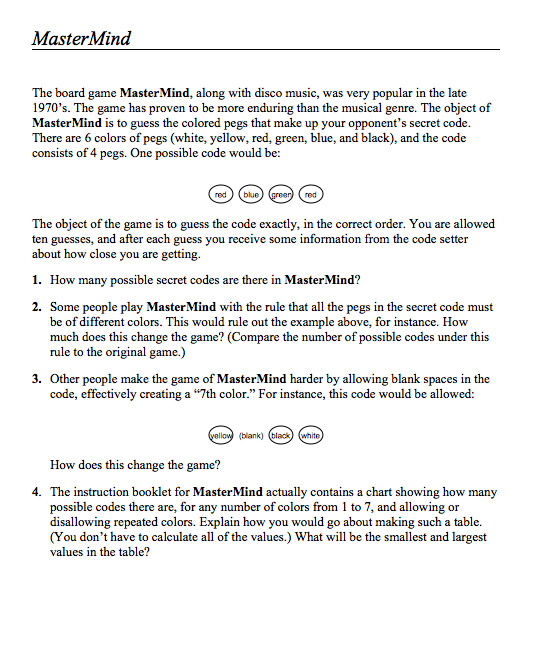 MasterMind Assessment for 9th - 12th Grade | Lesson Planet