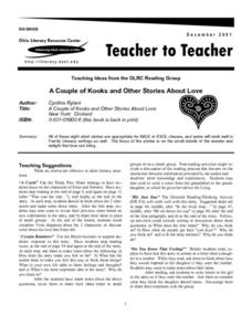 A Couple of Kooks and Other Stories About Love Lesson Plan