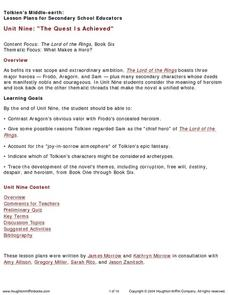 The Lord of the Rings Lesson Plans & Worksheets | Lesson Planet