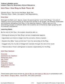 One Ring to Rule Them All Lesson Plan