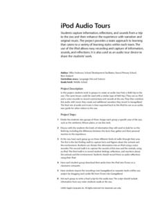 iPod Audio Tours Lesson Plan