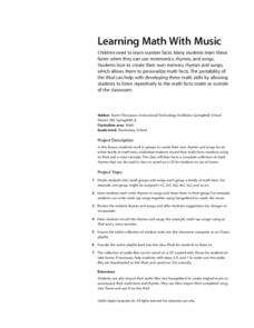 Learning Math with Music Lesson Plan