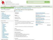 Learning About Occupations Lesson Plan