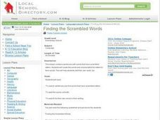 Finding the Scrambled Words Lesson Plan
