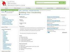 Building Your Vocabulary Lesson Plan
