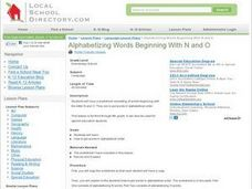 Alphabetizing Words Beginning With N and O Lesson Plan