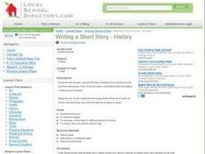 Writing a Short Story -History Lesson Plan