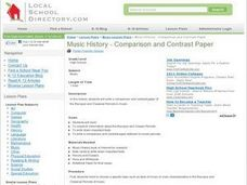 Music History - Comparison and Contrast Paper Lesson Plan