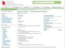 Music History - The Romantic Period Lesson Plan