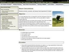 Bison Calculations Lesson Plan