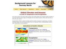 Global Climates and Seasons Lesson Plan
