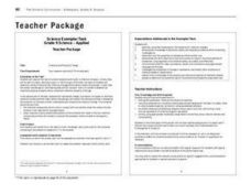 Chemical and Physical Change Lesson Plan