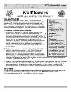 Wallflowers: Adding and Multiplying Integers Lesson Plan