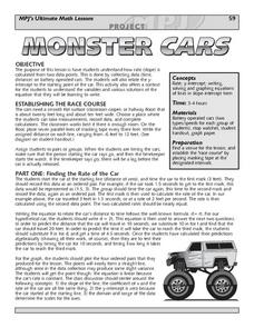 Monster Cars: Slope Lesson Plan
