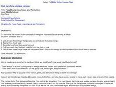 Fossil Fuels-Importance and Formation Lesson Plan