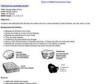 Minerals Make Rocks Lesson Plan