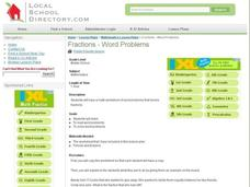 Fractions-Word Problems Lesson Plan