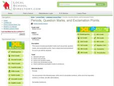 Periods, Question Marks, and Exclamation Points Lesson Plan