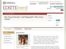 The Secret Society and FitzGerald's The Great Gatsby Lesson Plan