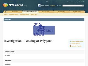 Investigation-Looking at Polygons Lesson Plan