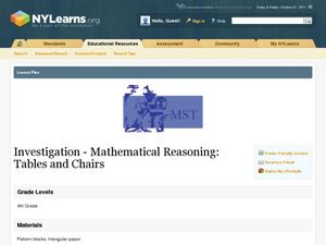 Investigation - Mathematical Reasoning: Tables and Chairs Lesson Plan