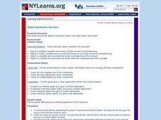Exploring Number Systems Lesson Plan