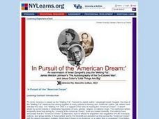 In Pursuit of the American Dream Lesson Plan