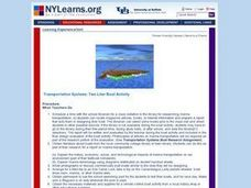 Transportation Systems: Two Liter Boat Activity Lesson Plan
