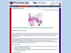 Patterns in Musical Composition: Intermediate - Level Young Composers Concert Lesson Plan