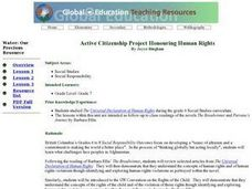 Active Citizenship Project  Human Rights Lesson Plan