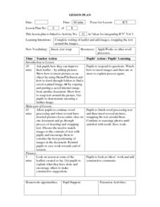 Inserting Text - Word Processing Lesson Plan Lesson Plan