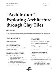 """Architexture"": Exploring Architecture Through Clay Tiles Lesson Plan"