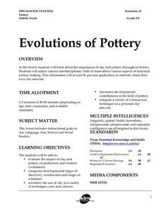 Evolutions of Pottery Lesson Plan