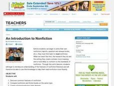 An Introduction to Nonfiction Lesson Plan
