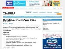 Connotation: Three Lessons for Effective Word Choice Lesson Plan