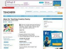 Ideas for Teaching Creative Poetry Lesson Plan