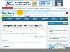 Immigration: Stories of Yesterday and Today Lesson Plan
