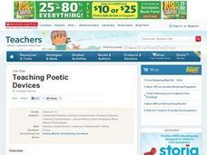 Teaching Poetic Devices Lesson Plan