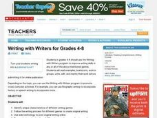 Writing with Writers Lesson Plan