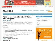 Responses to Literature: Be A Theme Park Designer! Lesson Plan