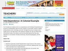 Interdependence:  A Colonial Example Lesson Plan