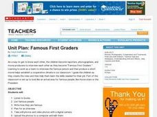 Famous First Graders Unit Lesson Plan