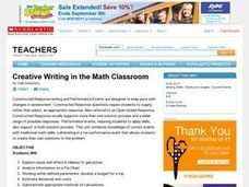 Creative Writing in the Math Classroom Lesson Plan