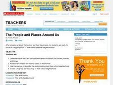 The People and Places Around Us Lesson Plan
