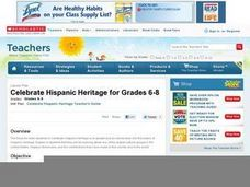 Celebrate Hispanic Heritage: Grades 6-8 Lesson Plan